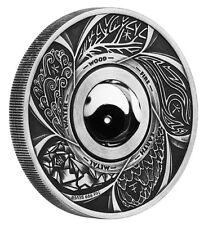 Australia Yin Yang Rotating Charm 2016 $1 1oz Silver Antiqued Coin
