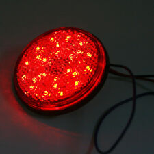 1Pair Round Brake Lamp Rear Tail Light Red 24 LEDs Light 12V for Motorcycle Car