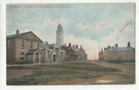 Southwold Wesleyan Chapel & Lighthouse 2 Aug 1906 Postcard Jarrold Suffolk 307c
