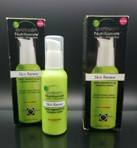 Lot 2 Garnier Nutritioniste Skin Renew Daily Regenerating Moisture Lotion 2.5oz