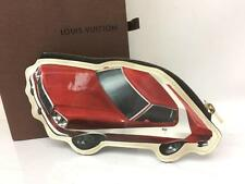 Auth Louis Vuitton MY LV WORLD TOUR VINTAGE RED CAR Pattern Coin Case 7L120680r