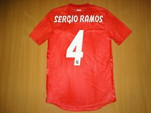 NEW REAL MADRID#4 SERGIO RAMOS AWAY 2018 2019 shirt jersey SOCCER CLIMACHILL