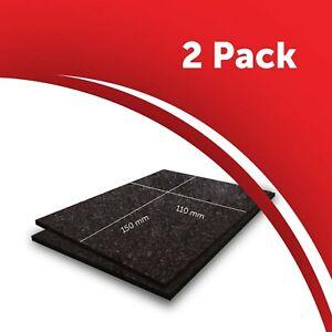 2 x Furniture Felt Pad Sheets Brown 150x110mm Hardwood Floor Protector 5mm thick