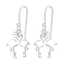 925 Sterling Silver Flamingo Lover Drop/Dangle Earrings