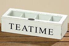 Tee-Box Fjord weiß - Aufbewahrungsbox - Teebox - Aufbewahrung