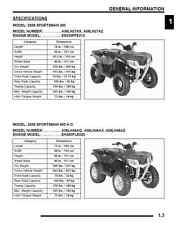Polaris 2008 ATV Sportsman 300 400 service manual 3-ring binder
