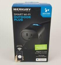 Smart WiFi Plug Outdoor Plug. App or Voice No Hub Required. Merkury Innovations