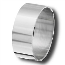 Stainless Steel 10 mm Wide Band Ring - Free Gift Packaging