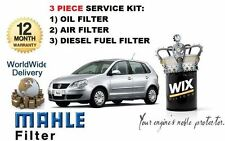 FOR VW POLO 1.4TDi 07/2005-> 80BHP OIL AIR FUEL FILTER SERVICE KIT *OE QUALITY*