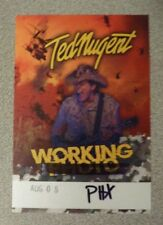 Ted Nugent Working Backstage Pass Aug 8, 2018 Celebrity Theater Phoenix Last Sho