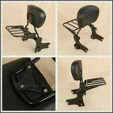 Detachable Backrest Sissy Bar W/ Luggage Rack For Harley HD Touring Models 97-08