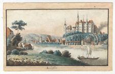 Meißen / Albrechtsburg (Sachsen). - Altkol. Kupferstich, um 1800
