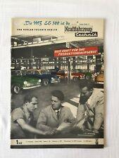 Kraftfahrzeugtechnik KFT 01/1962 MZ ES 300 Sammeln Ostalgie Alt DDR IFA Geschenk