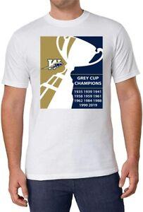 CFL Winnipeg Blue Bombers Grey Cup Champs White T-Shirt 100% Cotton Men XL NEW