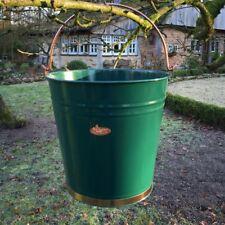 Dekorativer Eimer - Metall Eimer grün Blecheimer Garteneimer Asche Wassereimer