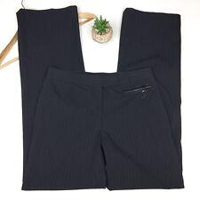 Cynthia Steffe  Black Pants Slacks Career Size 6 Pinstriped