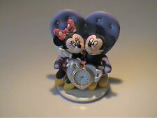 DISNEY CERAMIC DECORATIVE MICKEY & MINNIE MOUSE CLOCK