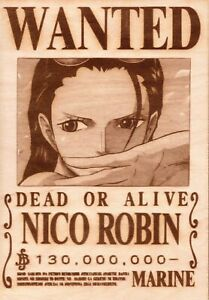 One Piece - Nico Robin Wooden Wanted Poster