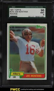 1981 Topps Football Joe Montana ROOKIE RC #216 SGC 9 MINT