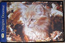 Fiddler's Elbow Designer Doormat Blonde Tabby Kitten by Sue Ellen Ross NWT