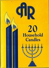 20 Kosher Shabbath Candles, Household candles, Kosher Shomer Shabbos factory