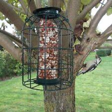 More details for bird nut feeder hanging feed station squirrel proof green metal outdoor garden