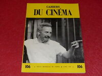 [REVUE LES CAHIERS DU CINEMA] N°106 # AVR 1960 J. BECKER Cocteau EO 1rst Print