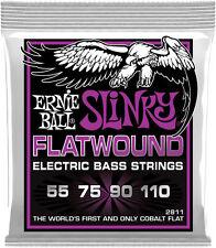 Ernie Ball 2811 Power Slinky Flatwound Elec Bass Guitar Strings gauges 55-110