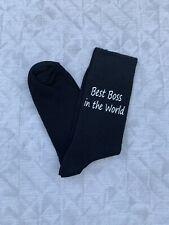 Best Boss Men's Novelty Socks Vinyl Printed Gift Funny Socks Secret Santa