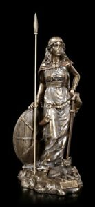 Freya Figur bronziert - Wikinger Deko Odin Göttin Kriegerin - Veronese Statue