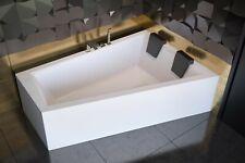 Trapez Badewanne für zwei Personen 180x125 Schürze Ablauf 2 x Kopfstütze rechts