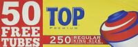 Top Regular Full Flavor Red RYO Cigarette Tubes King Size 250ct Box (4 Boxes)