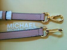 """Michael Kors Gold / Fawn Pink Pebble Leather Replacement Shoulder Strap 41"""" New"""