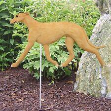 Greyhound Outdoor Garden Sign Hand Painted Figure Fawn