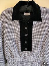 VALENTINO BOUTIQUE Plaids & Checks 100%Wool Dress Sz M