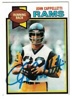 1979 Topps John Cappelletti Autographed Card - Los Angeles Rams TTM - #18
