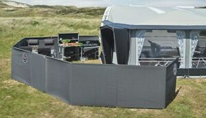 Isabella MEGA Windscreen 4 Panel Seasonal Pitch Windbreak GREY 120cm H 460cm L