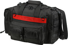 Black Tactical Police Emergency Concealed Carry Bag with Thin Red Line TRL