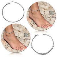 1 Damen Fußkettchen Fußkette 925er Sterling Silber Echtschmuck Knöchel Fuß Kette