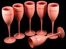 PROMO Champagne Veuve Clicquot Ponsardin: Rosé Acrylic Tulip Glasses, Set of 6