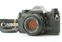 「Exc+5」 Canon AE-1 Program Black SLR Camera w/ New FD 50mm F1.8 Lens from JAPAN