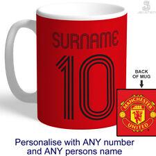 PERSONALISED Man Utd Cup / Mug. Customised MANCHESTER UNITED Football Fan Gift