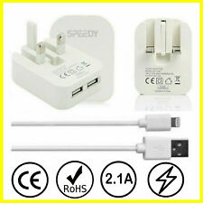 Universal CE Charger Plug & USB Sync Cable for iPhone X XS XR 8 7 6 iPad AIR