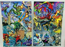 2 Fleer Marvel Cards Spider-Man Masterprints 1994 Enemies III & Enemies IV