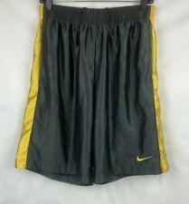 Nike Mens Basketball Shorts Size M Black/Yellow Pockets Elastic Waist Drawstring