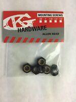 Grind King BLACK Skateboard Truck Axle lock nuts Washers Speed Rings Nuts