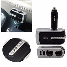 2 Way Multi Socket Car Cigarette Lighter Splitter USB Plug Adapter Charger 12V