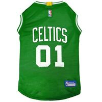 Boston Celtics NBA Officially Licensed Pets First Dog Pet Mesh Green Jersey