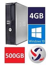 Dell Windows 10 Desktop Computer 500GB HDD | 4GB RAM | Wifi | 3.0GHz Processor