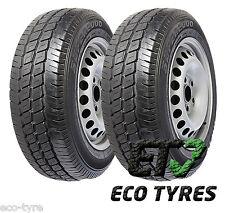 2X Tyres 195 65 R16C 104/102T 8PR Hifly Super 2000 M+S E C 72dB